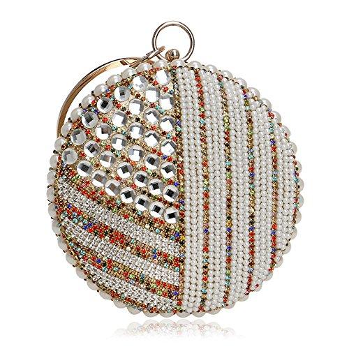 PLYY Beading Borse da sera per donna Catena Tracolla Borse Diamanti Perla borsa da sposa Borsa Clutch Borsa