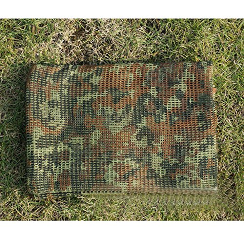 MagiDeal Écharpe Bandana Cheche Voile de Visage Filet Camouflage Tactique Militaire Armee Commando Chasse