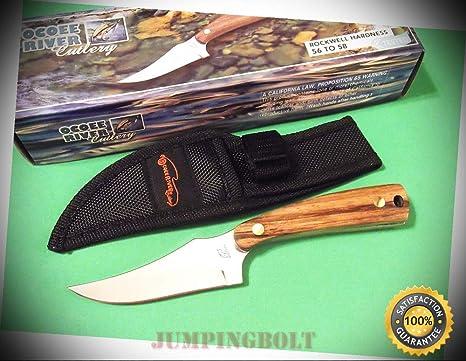 f4e46af1c94d6 OC-534ZW OCOEE RIVER SHARPFINGER Zebra wood full tang knife 7 ...