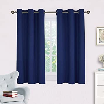 kids curtains blackout dark tag insulated polyester navy blue thermal curtain thick