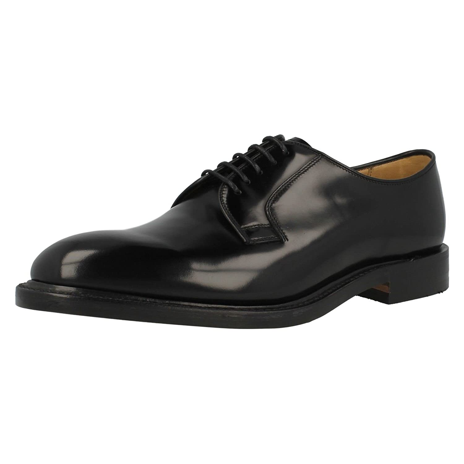 b1c55aa0 Loake Made in England Skin Mod Leather Long Wing Royal Lace Up Brogue Shoe  Black 12: Amazon.co.uk: Shoes & Bags