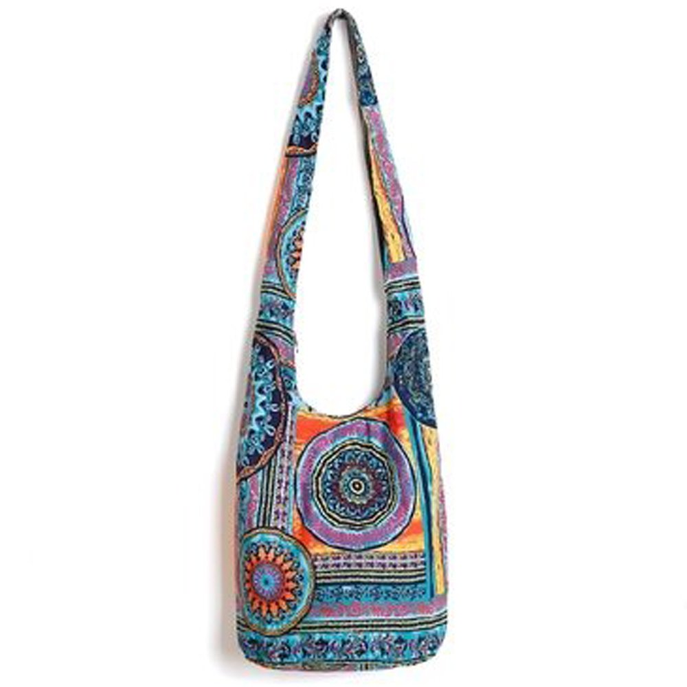 Tie Dye Hippie Bag Cross-Body Baja Sling Bag in Classic Baja Jacket Fabric Bohemian For Men or Women(1240)