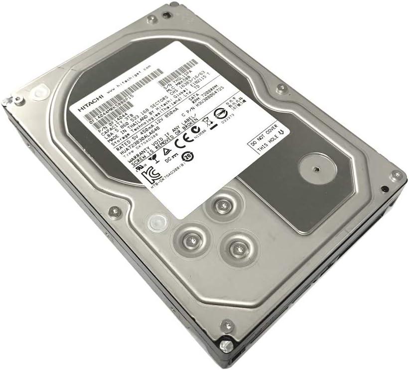 Hitachi Ultrastar 7K3000 3TB 64MB Cache 7200RPM SATA 3.0Gb/s 3.5in Heaty-Duty Internal Hard Drive for Surveillance System, RAID, NAS, PC/MAC (Renewed)
