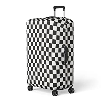 e93a7074a489 Amazon.com: Pinbeam Luggage Cover Chequered Checkered Flag Racing ...