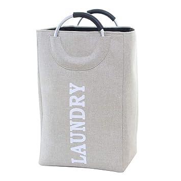Amazon.com: Bolsa de almacenamiento de lona para ropa sucia ...