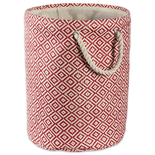 - DII Woven Paper Storage Basket/Bin Collapsible & Convenient Home Organization Solution, Small Round, Rust