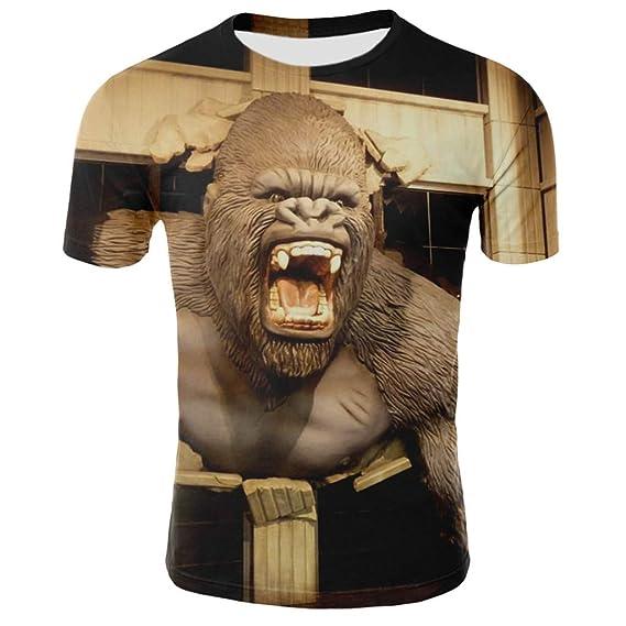 Nueva Camiseta con Estampado Animal para Hombre Punk Hip Hop ...