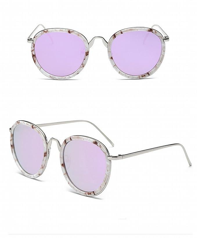 Retro Runde Rahmen Frau Sonnenbrille Mode Sonnenbrille Farbe Linse ...