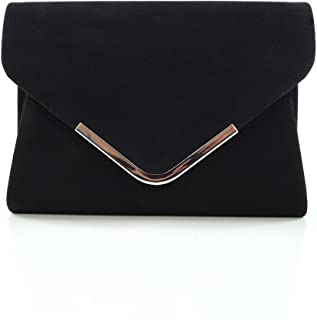 Womens Clutch Bag Envelope Ladies Bridal Bridesmaid Prom Party Evening Handbag