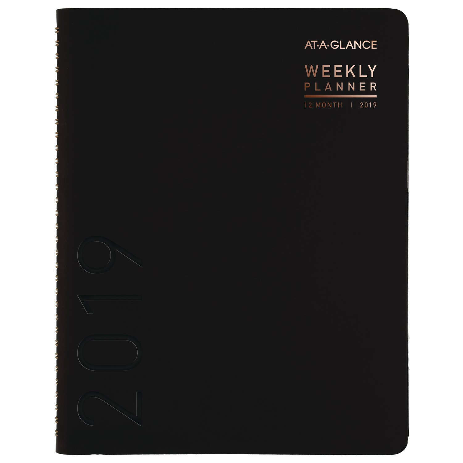 AT-A-GLANCE 2019 Weekly & Monthly Planner / Appointment Book, 8-1/2'' X 11'', Large, Contemporary, Black (70950X05)
