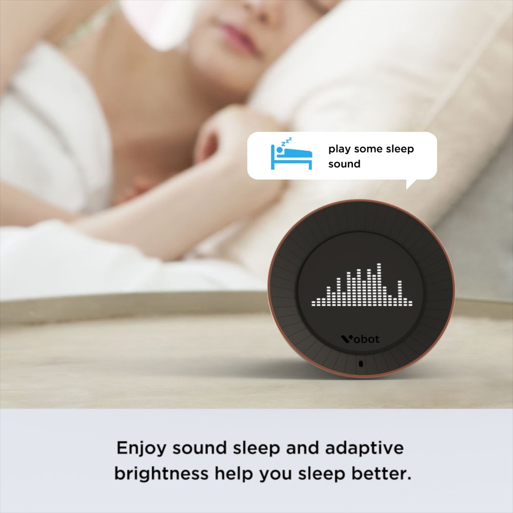 Vobot Smart Alarm Clock with Amazon Alexa[Touch-Initiate], 5W Speaker, LED Display, White Noise Machine, Timer/Date/Weather/Daily News/Radio/Music(Amazon Music, iHeartRadio, TuneIn etc) by VOBOT (Image #7)