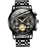 SUNVEN Men's Watches Waterproof Quartz - Business Wristwatch Gold Stainless Steel Sapphire Face Multi-Function Displays Luminous Hands 2019 Design