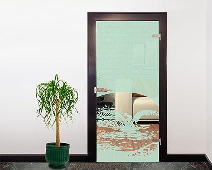 Glasdekor Türfolie Milchglas See mit Pelikan I 90 x 200 cm ...