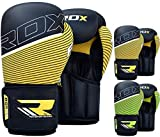 RDX Maya Hide Leather Boxing Gloves Punching Bag Glove Sparring Training Mitts Muay Thai F6