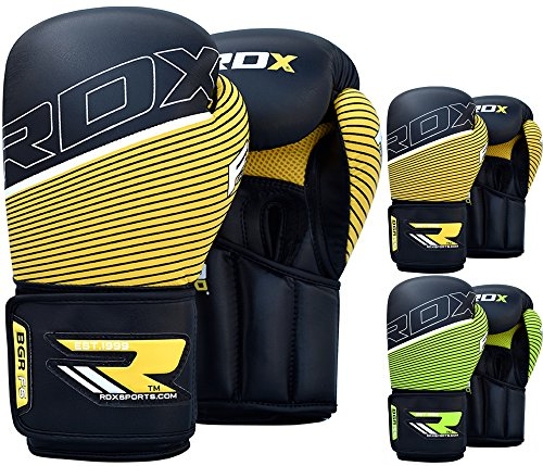 Leather Wrist Wrap Boxing Gloves (RDX Maya Hide Leather Boxing Gloves Punching Bag Glove Sparring Training Mitts Muay Thai)