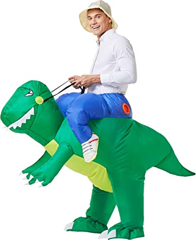 Dinosaur Riding Inflatable Kids Suit Cosplay Costume Fancy Dress Party Funny