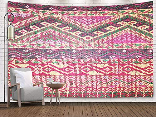 - Crannel Christmas Colorful Thai Peruvian Style Rug Surface Old Vintage Torn Made from Natural Materials Tapestry 50x60 Inches Wall Art Tapestries Hanging for Dorm Room Living Home Decorative