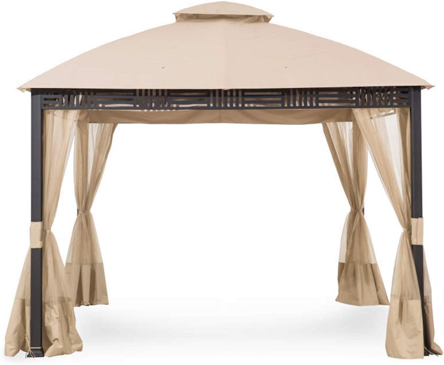Garden Winds Replacement Canopy Top Cover for Westbrook Gazebo Gazebo - 350 - Beige