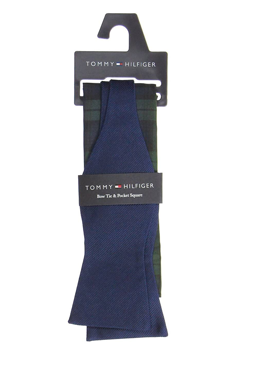 Tommy Hilfiger Mens Navy Striped Box Set Tie