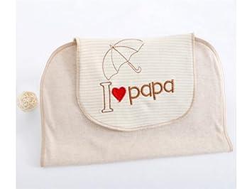 NaXinF Envoltura de la Envoltura del bebé Toalla Absorbente Absorbente del algodón del Sudor del Bordado del Amor del niño pequeño: Amazon.es: Hogar