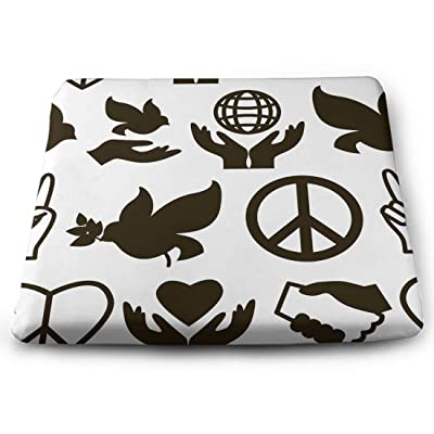 Tinmun Square Cushion, Peace Pattern Fingers Bird Care Large Pouf Floor Pillow Cushion for Home Decor Garden Party: Home & Kitchen