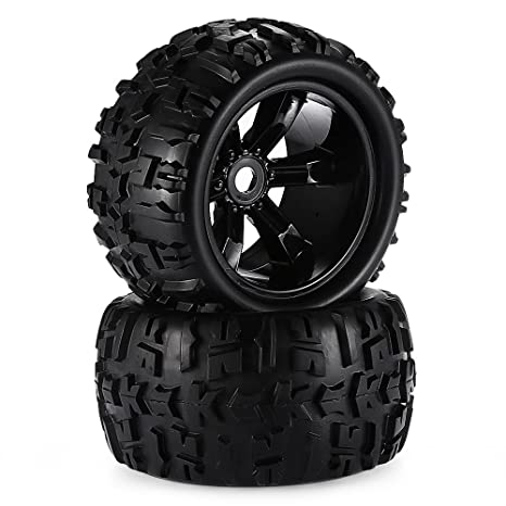 Truck Wheels And Tires >> Amazon Com 2pcs 3 6 Inch 150mm Monster Truck Wheel Rim And Tire For