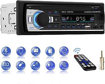 Autoradio Bluetooth, CENXINY Radios para Coche Manos Libres, Receptor Estéreo de Coche USB Dual Incorporado, Bluetooth 4.2, FM, AUX y Ranura para Tarjeta TF: Amazon.es: Electrónica