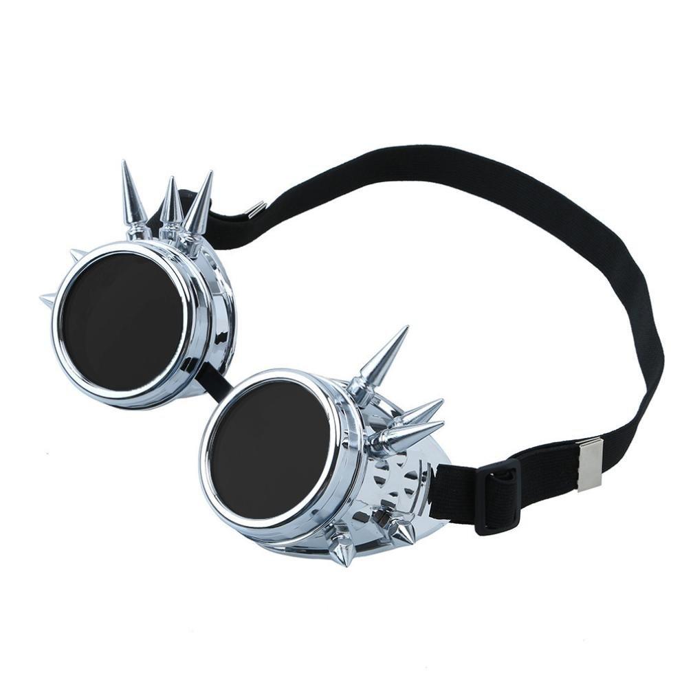 12shage Punk Gothic Cosplay Vintage Viktorianische Steampunk Goggles Gl/äser B
