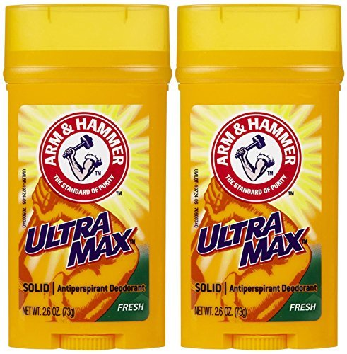 Arm & Hammer Ultramax Invisible Solid Wide Stick Antiperspirant & Deodorant-Fresh-2.8 oz, 2 pack by Arm & Hammer (Perspirant Solid Anti Wide)
