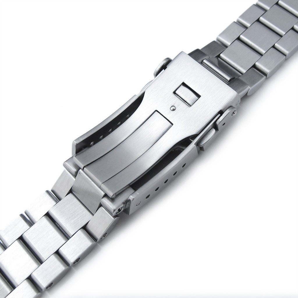 22mm Endmill 316L SS Watch Bracelet for Orient Mako II & Ray II, Submariner Clasp Brushed by Orient Replacement by MiLTAT (Image #7)