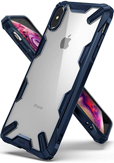 pretty nice 9559a 00af8 Ringke Fusion-X Compatible with iPhone Xs Max Case Ergonomic Transparent  [Military Drop Tested Defense] Hard PC Back TPU Bumper Impact Resistant  Cover ...