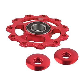 Zarupeng-11Tooth MTB Rodamiento de cerámica Jockey Wheel Polea Road Bike Bike Derailleur (Rojo): Amazon.es: Deportes y aire libre