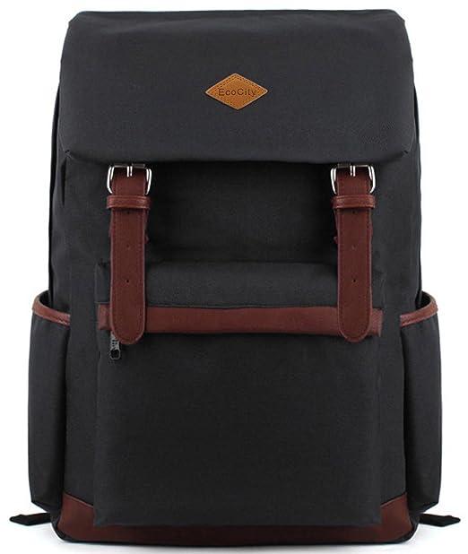58 opinioni per EcoCity- Zaino fashion vintage in tela, scuola viaggio o computer, BP0022B1