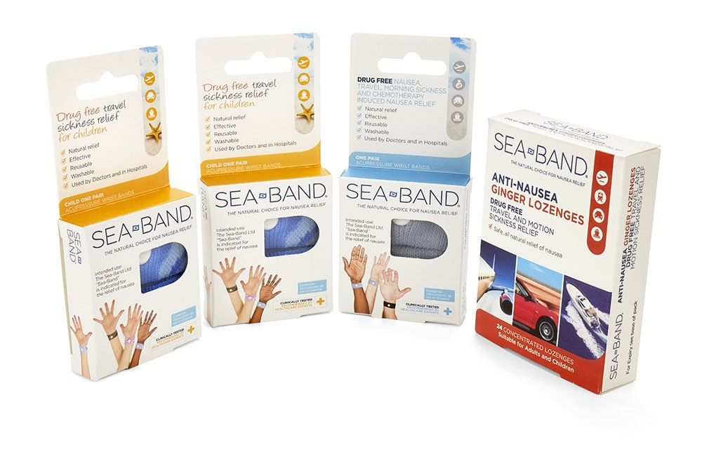 Sea-Band Family Pack Wristbands and Lozenges, Natural Nausea Relief, Anti-Nausea Acupressure Wristband for Travel or Morning Sickness