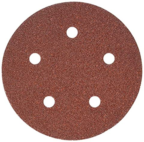 PORTER-CABLE 735500625 5-Inch 5-Hole Hook and Loop 60 Grit Sanding Discs (25-Pack) - Porter Cable Metal