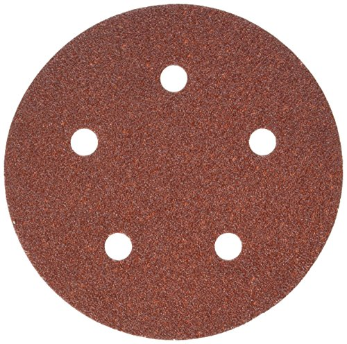 PORTER-CABLE 735500625 5-Inch 5-Hole Hook and Loop 60 Grit Sanding Discs (25-Pack)