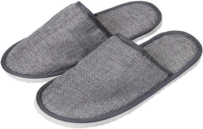 LBWT Zapatillas de Estar en casa para Invitados de Hotel, no Desechables, 10 Pares de Pantuflas Gruesas para Interior, hogar, Hotel, Viaje, portátil: Amazon.es: Hogar