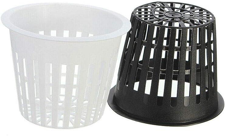 10x Planting Basket Plastic Round Aquatic Pot Baskets for Water Plant Aquarium