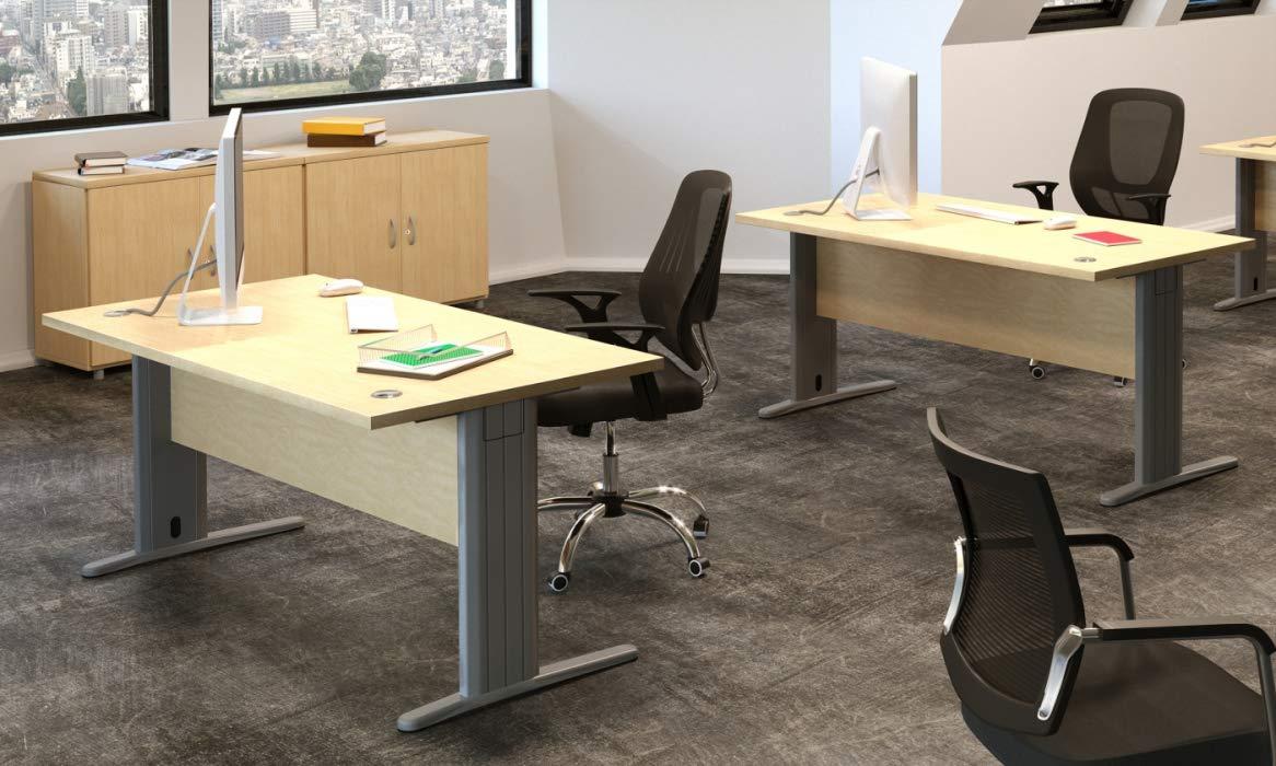 Mesa de Oficina. Euro 3000. Color Haya. 160x80 cm. Patas en T de ...