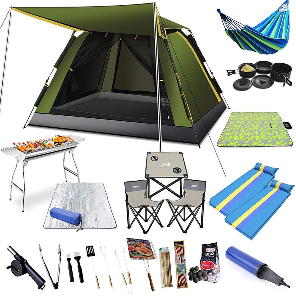 テント - - テント 自動テント屋外3-6人バーベキューキャンプテントセット アウトドア製品 B019OL30UM アウトドア製品 Green, ヌカタチョウ:c1b1a83c --- ero-shop-kupidon.ru