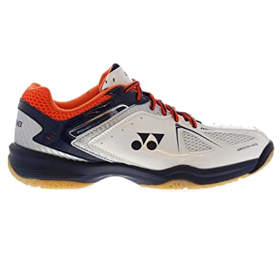 Yonex Hombre Power Cushion 35 Badminton Zapatos de deporte Blanco/Navy 42.5: Amazon.es: Zapatos y complementos