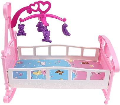 vidaXL Culla per Bambole Rosa Viola Giochi da Camera Gioco per Bambini Bambine