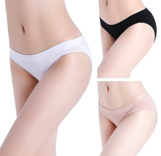 6776ea423e8e Fispo Women's Bamboo Bikini Briefs, Seamless at Amazon Women's ...
