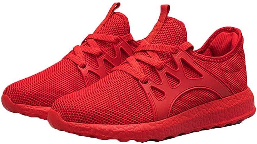 ADOLENB Zapatillas de Correr Planas con Cordones de Patchwork de Hombre Running: Amazon.es: Zapatos y complementos