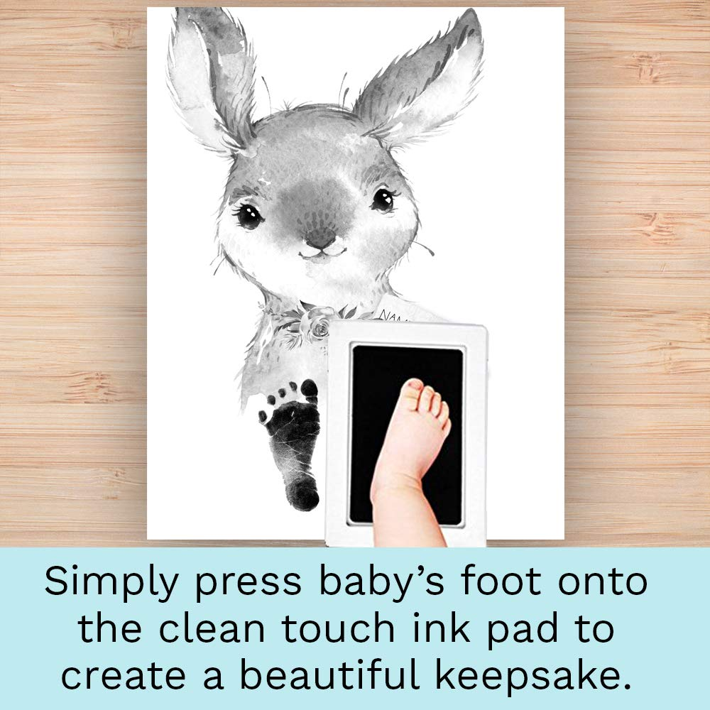 Animal Nursery Art Footprint Set Baby Footprint D/écor perfect Baby Shower Gift Christening Gift Newborn Footprint Art Print New Mom Gift Baby Footprint Kit with Clean Touch Ink Pad