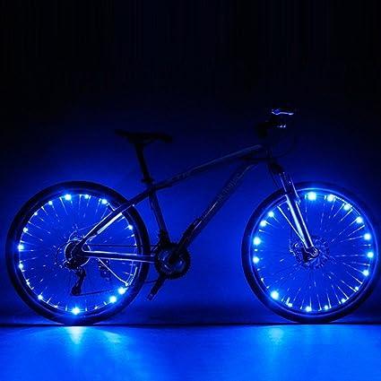 Luces Yiiya, para rueda de bicicleta, ultrabrillantes, 2 modos de parpadeo, impermeables