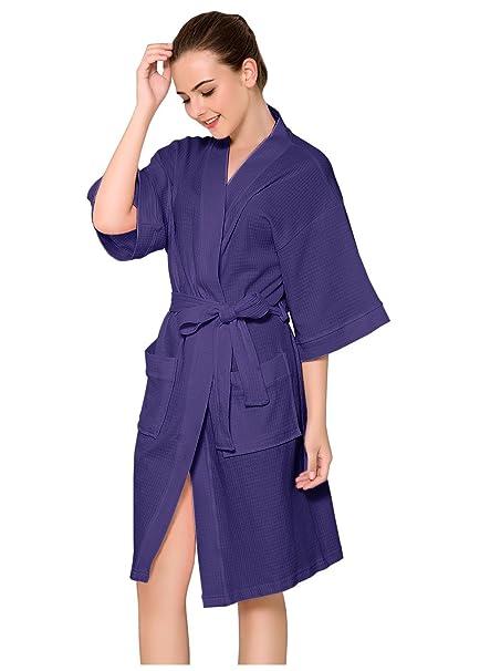 Amazon.com: Kimono - Albornoz para mujer, diseño de gofres ...