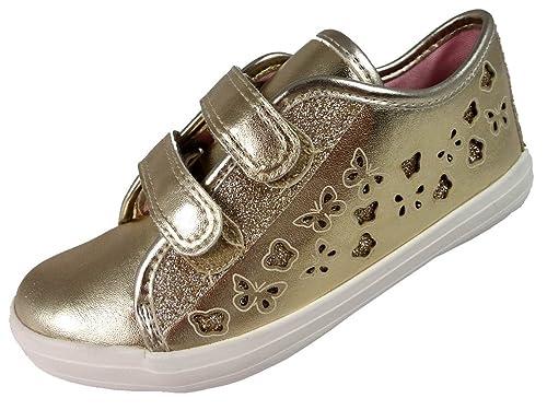 BMSTrent - Zapatillas chica , color dorado, talla 25,5 EU Niño: Amazon.es: Zapatos y complementos