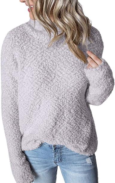 Sweater Sleeve Jumper Pullover Ladies Blouse Tops Women/'s Long Fluffy Sweatshirt