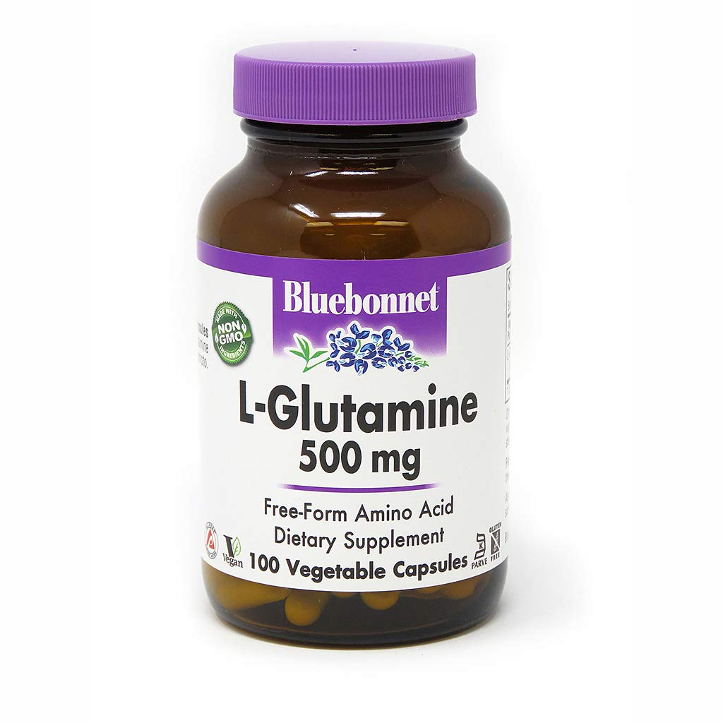 Bluebonnet L-Glutamine 500 Mg Vitamin Capsules, 100Count by BlueBonnet